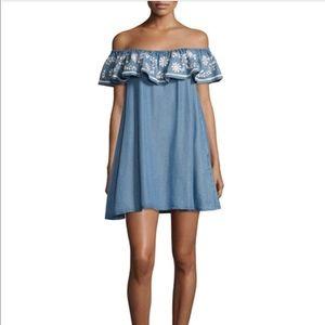 Rebecca Minkoff Dev Chambray Blue Mini Dress